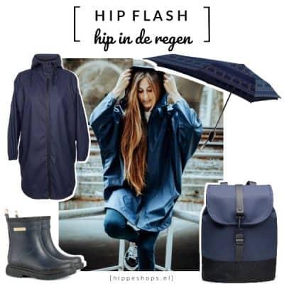 Hip in de Regen met deze stormy musthaves in stylish indigoblauw