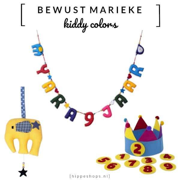 De verjaardagslinger en feestmuts van Kiddycolors gaan jarenlang mee