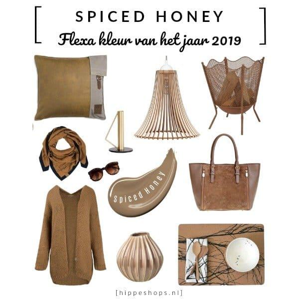 Spiced Honey Flexa kleur van het jaar 2019 trendkleur shopping inspiratie