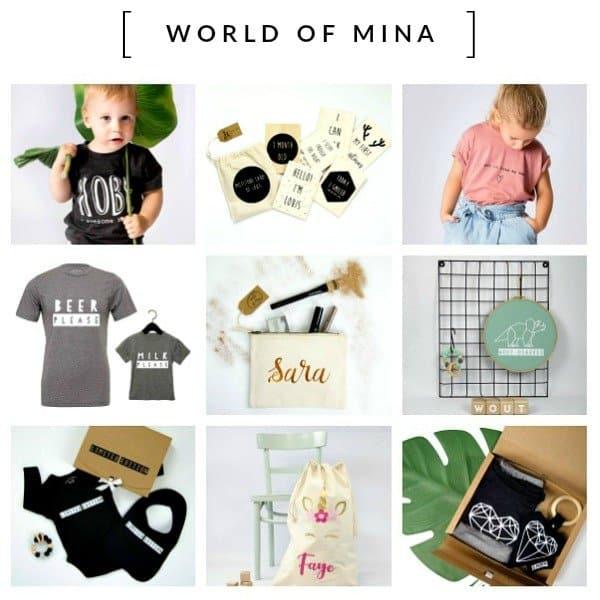 WORLD OF MINA - gepersonaliseerde cadeautjes voor klein en groot