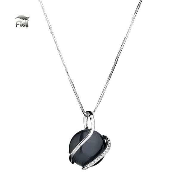 FIELL ketting black stone hanger (twv €27,50) van Libra Djewelz