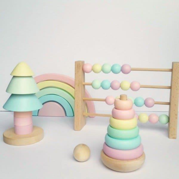 houten speelgoed pastel