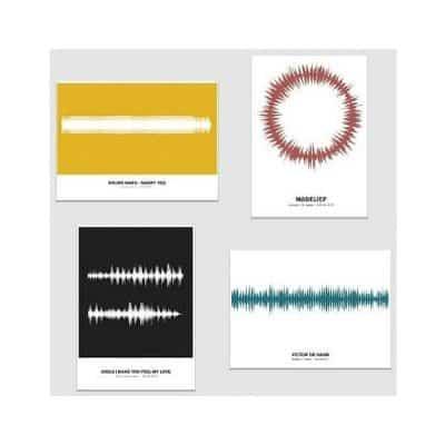 Soundwave Poster: jouw favoriete geluidsmoment als muurdecoratie