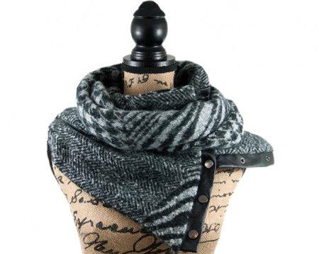 Hippe sjaals met drukkers, lekker stoer en warm deze winter!