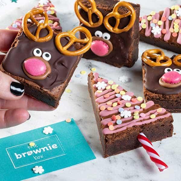 Build-your-own-Christmas-brownies van webshop The Brownie Box - Top 25 December Online Shopping Inspiratie voor Sint & Kerst