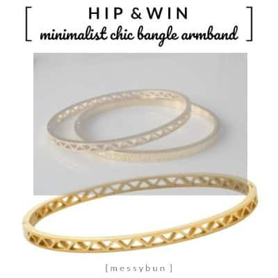 WIN: Minimalist chic trend bangle armband van MessyBun
