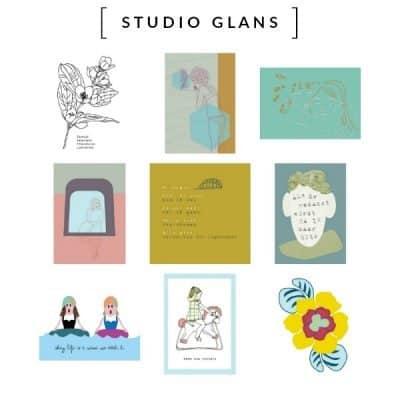 STUDIO GLANS kaarten en posters met een unieke stijl