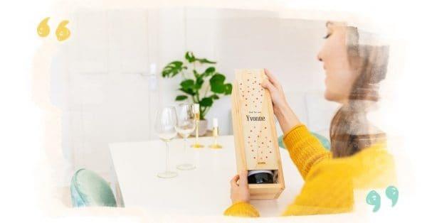 gepersonaliseerd kistje wijn