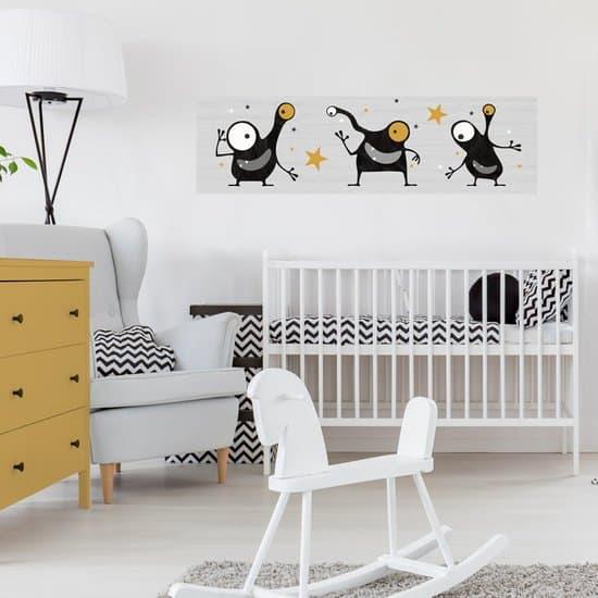 Mini Muursticker Paneel voor babykamer, kinderkamer en tienerkamer