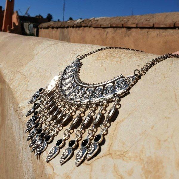Boho ketting Onyx, gemaakt van Berber zilver - Nieuwe collectie sieraden bij Boho Babe [Webshop Wannahave van de Week]