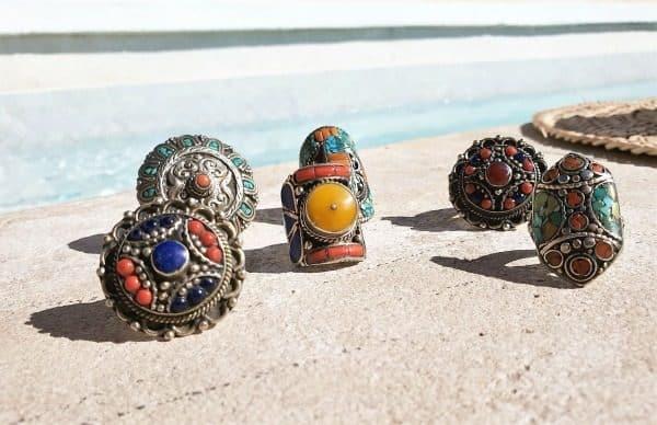 Gypsy ringen met edelstenen - Nieuwe collectie sieraden bij Boho Babe [Webshop Wannahave van de Week]