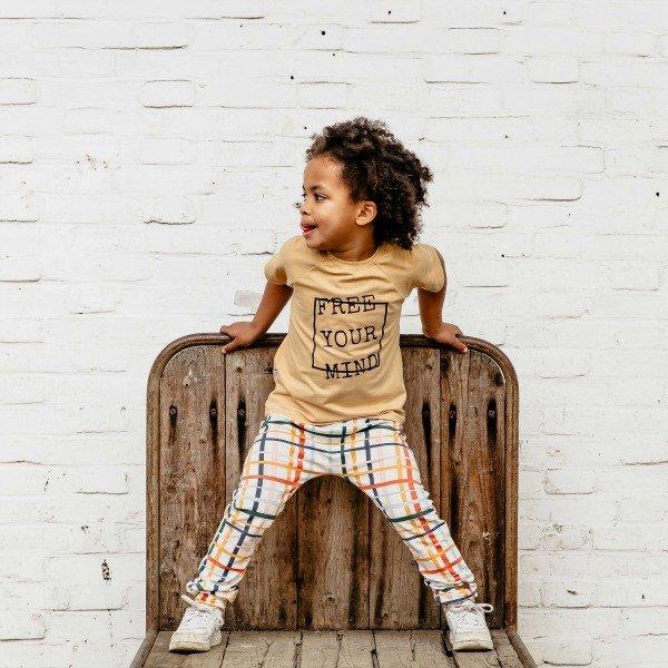 T-shirt Free Your Mind (damesmaat of kindermaat) van Lucky Leaf