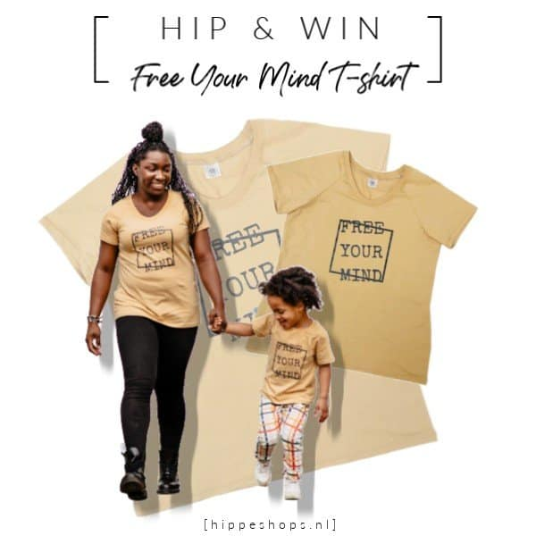 WIN: T-shirt Free Your Mind (damesmaat of kindermaat) van Lucky Leaf