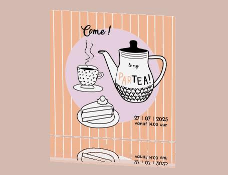 High Tea Uitnodiging - HippeShops MyCards