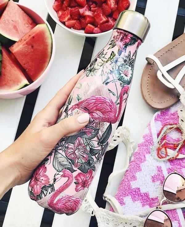 Chilly's bottle tropical flamingo Moederdag cadeautip: Thee en meer voor de liefste mama van Bon Appethee