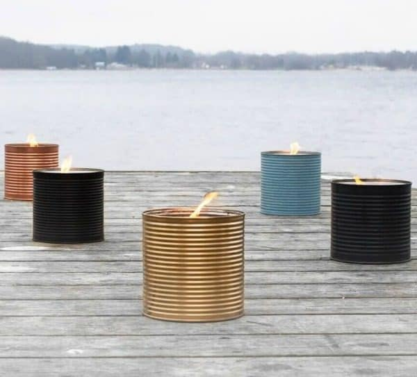 Buitenkaars in blik, Scandinavisch design van Living by Heart