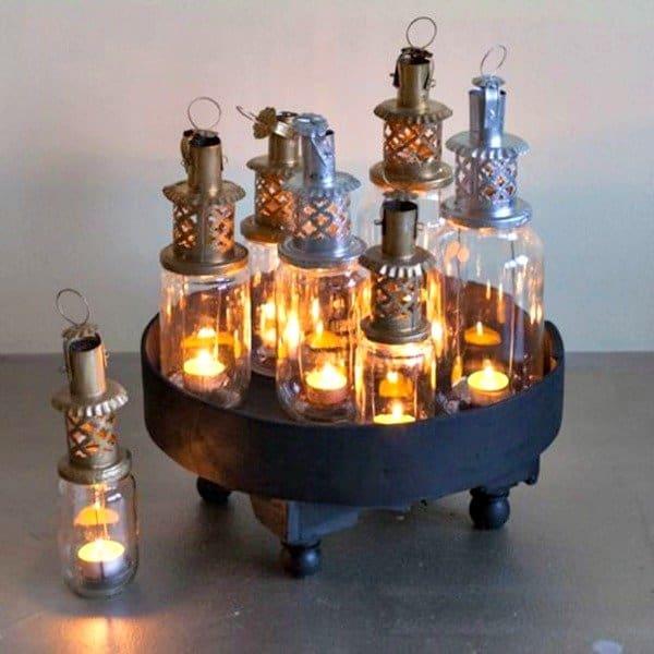 Marokkaanse Jampot Lantaarns, handgemaakt van gerecycled glas