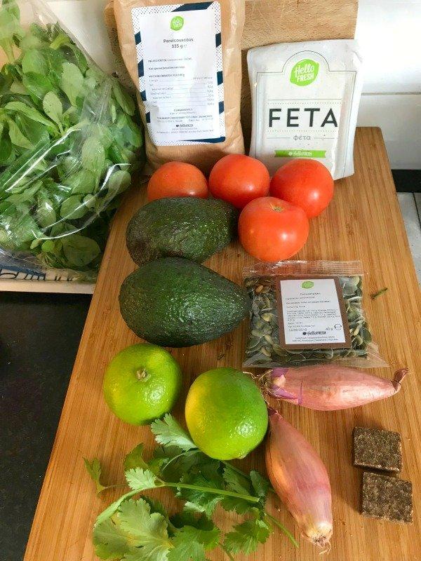 Kogelbiefstuk met aardappelsalade met geroosterde Turkse groene pepers