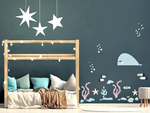 muurstickers fishy fishies LM Baby Art - De leukste muurstickers voor de allerkleinsten