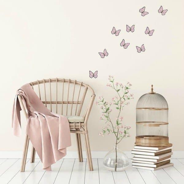 muurstickers vlinders kinderkamer LM Baby Art - De leukste muurstickers voor de allerkleinsten