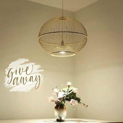 WIN: Bamboe Hanglamp Sisley Fine Asianliving (twv € 65)
