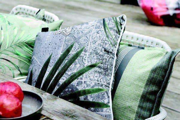tuinkussen botanisch groen