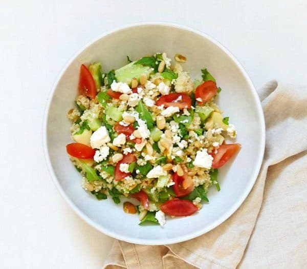Deze zomerse couscous salade is heerlijk fris, van Sillysis campinggerechten