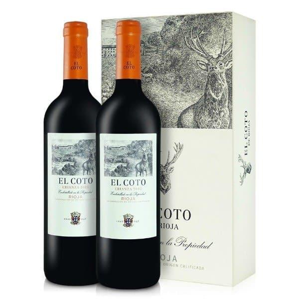 Twee prachtige rode Rioja wijnen van het bekende wijnhuis EL Coto.