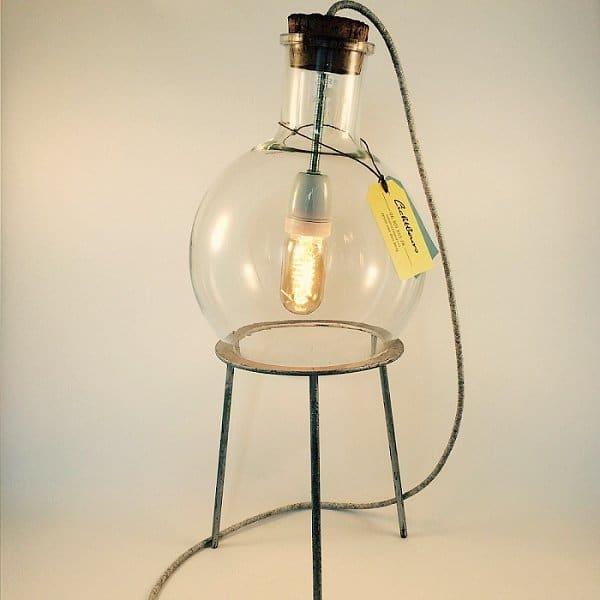 Rondbodemkolflamp lichtbeurs