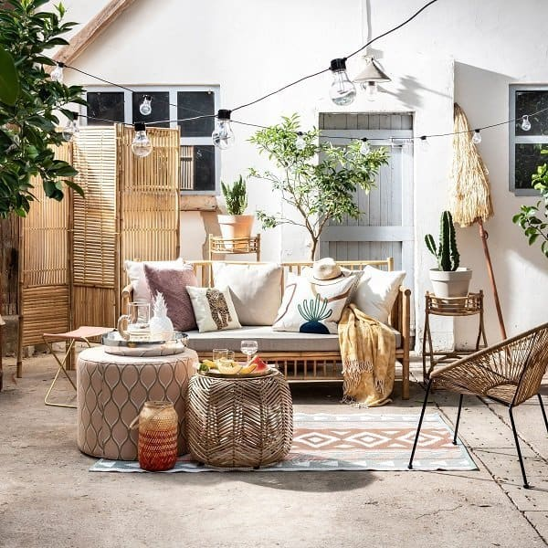 Bamboe tuinmeubelen