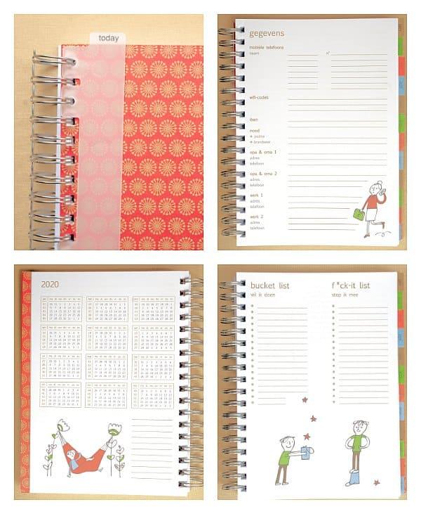 homeworktime familie-agenda 2020 voorbeeld inhoud
