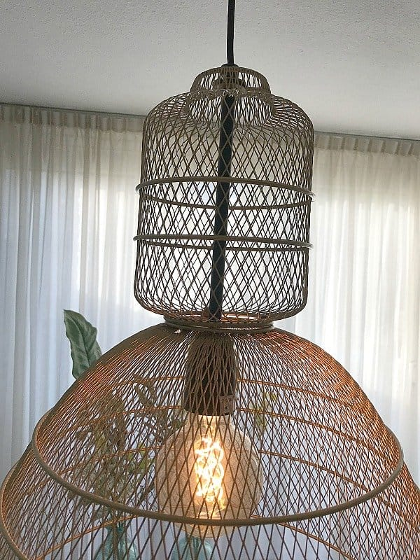 Hanglamp van gaas Anne Lighting Yogyakarta Dór Goud