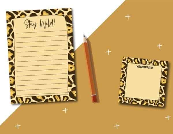 hello -xo- YEAH WRITE! Sticky notes en notitieblok Stay Wild!