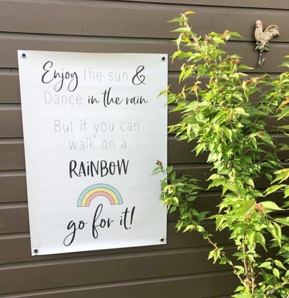 tuinposter regenboog rainbow
