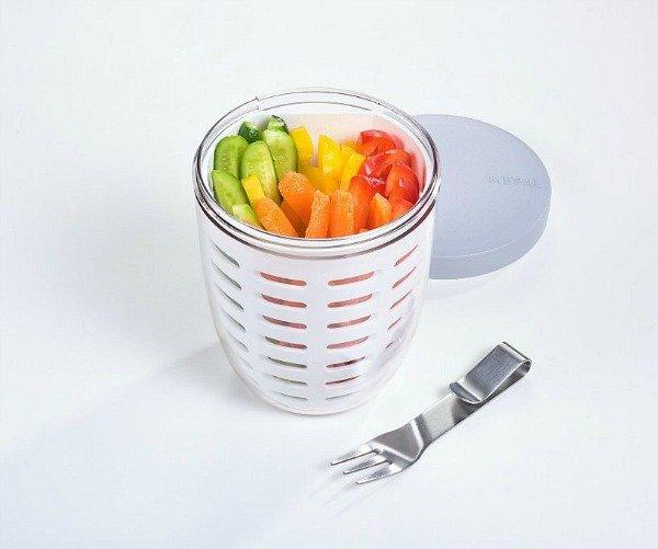 Fruit- & veggiepot Ellipse - wit