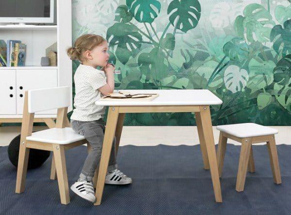 Ivar speelset met tafel, stoelltje en krukje
