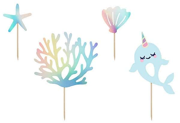 narwhal party caketoppers