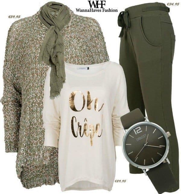 olijfgroen herfst shop the look