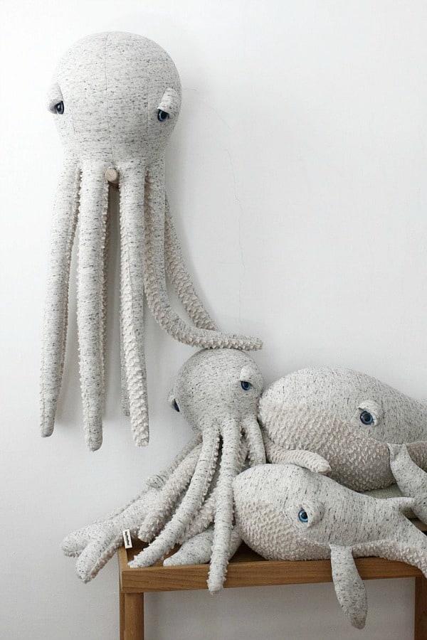 bigstuffed small original octopus