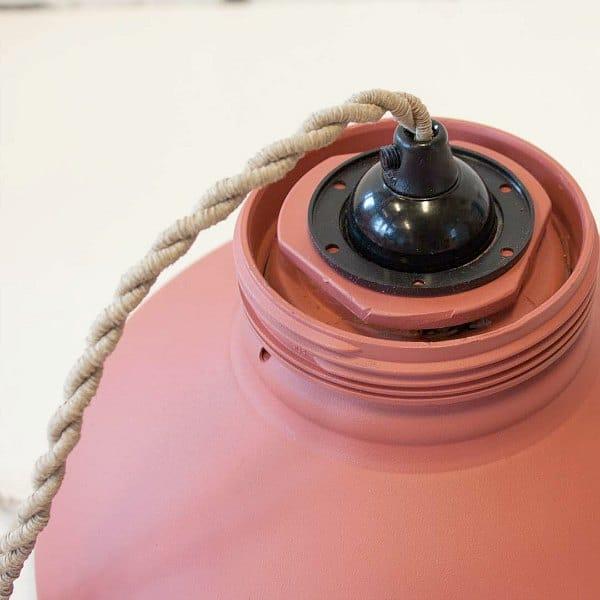 hanglamp oud roze