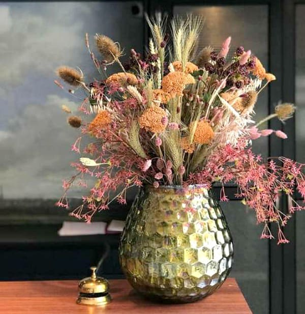 droogbloemen boeket met pampasgrassen