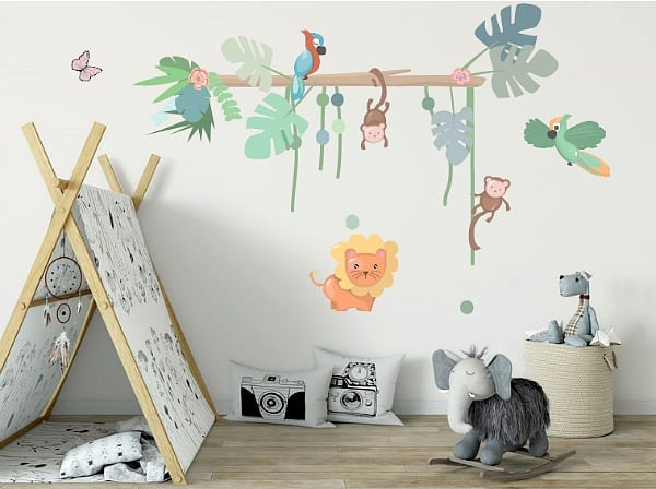 jungle muurstickers LM baby art