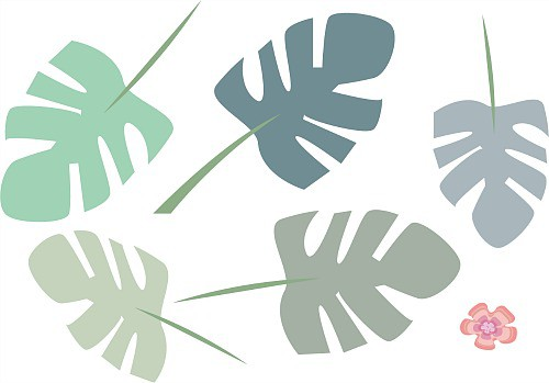 monstera blad muurstickers jungle thema