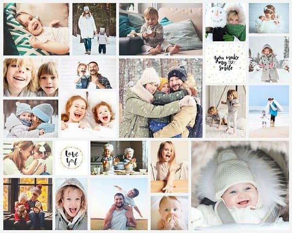 easycollage fotocollage op poster familie