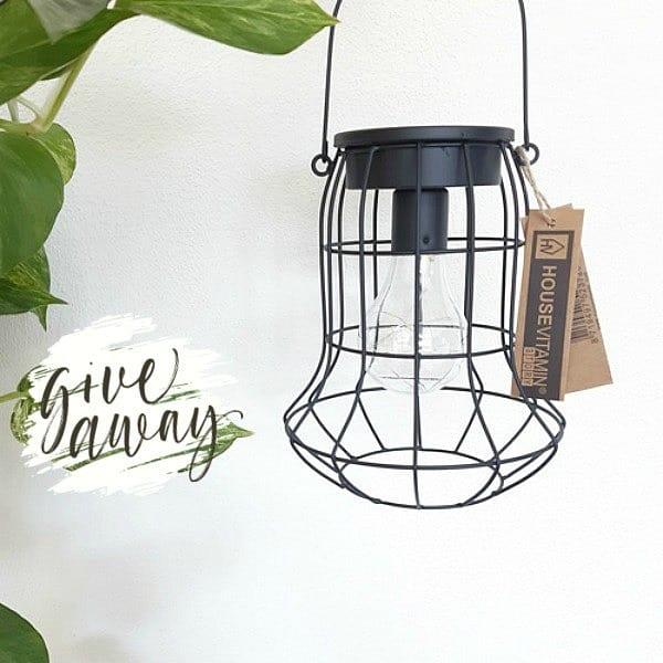 led-lantaarn zwart
