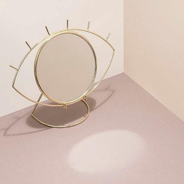 tafelspiegel cycloop goud doiy lifestyle interior gifts