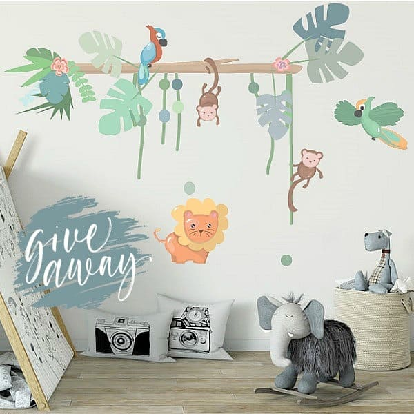 muursticker jungly jungle giveaway hippeshops