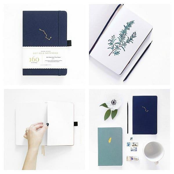 Archer & Olive Blanc Notebook A5 - Night Sky Sketchbook