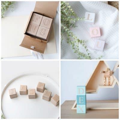 Cadeautip: houten naamblokken, gepersonaliseerd: gegraveerd of beschilderd