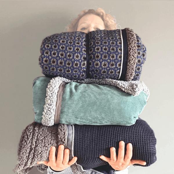 knuzz dekens handgemaakt en extra lang